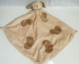 Angel Dear Plush Puppy Dog Baby Lovey Security Blanket Brown Tan Super Soft - $14.54