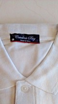 Catalina Bay Casual Shirt WHITE Sizes MEDIUM & LARGE Short Sleeves - $12.95
