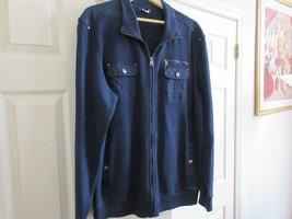 Calvin Klein , Men's Jacket ,Size XL/TG , Zipper , Multiple Pockets , Blue - $49.45