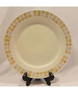 ROYAL NORFOLK 10.5 INCH Brown Earth Tones Squares Blocks DINNER PLATE (4 Avail) - $2.99