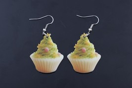 1 pair green tea cake food drop earrings colorful new 2014 cute lovely p... - $10.00
