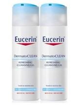 Eucerin DermatoCLEAN Dermato CLEAN Refreshing Cleansing Gel 200ml x 2 Bo... - $56.90