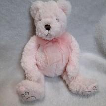 Bath And & Body Works Teddy Bear Plush Pink Sherpa Small Mini B EAN Ie Soft - $24.77