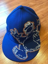 Sesame Street Cookie Monster Blue Hat A-Flex Hat Cap Free Shipping 11566... - $18.70