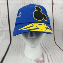 Walt Disney Cruise Line Mickey Mouse Oceaneer Club Lab Hat Blue Yellow - $10.88