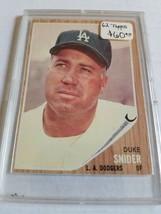 1962 Topps #500 Duke Snider - $54.10