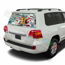 Sticker Bomb Skin Window SeeThru Stickers Perforated for Toyota Land Cru... - $59.80