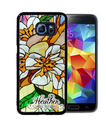 PERSONALIZED CASE FOR SAMSUNG S9 S8 S7 S7 S6 PLUS RUBBER STAINED GLASS - $13.98