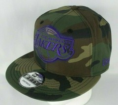 Los Angeles Lakes New Era NBA Sergeant Camo Hat 9FIFTY Snapback Cap - $19.99