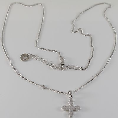 NECKLACE CESARE PACIOTTI 925 SILVER WITH CROSS WITH CUBIC ZIRCON JPCL1341B