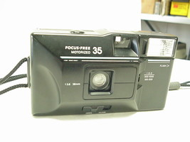 Focus-Free Motorized 35, 35mm Camera with Built-in Flash - $12.86