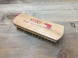 Vintage Kiwi 100% Horse Hair Brush Advertising Brighter Shine In 1/2 The... - $15.10