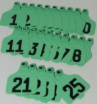 Destron Fearing DuFlex Visual ID Livestock Panel Tags LG Green 25 Sets 1 to 25 image 5