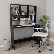 "Desk with Shelves Black 43.3""x17.7""x61.8"" Chipboard - $208.00"