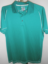 Excellent Mens Adidas ClimaCool Kelly Green Tennis/Golf Polo Sz Medium M... - $29.69