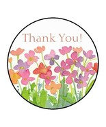 """30  Thank You Envelope Seals Labels Stickers 1.5"""" Round flowers watercolor - $4.99"""
