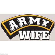 Army Wife Military Color Car Tab Window Sticker Decal - $13.53
