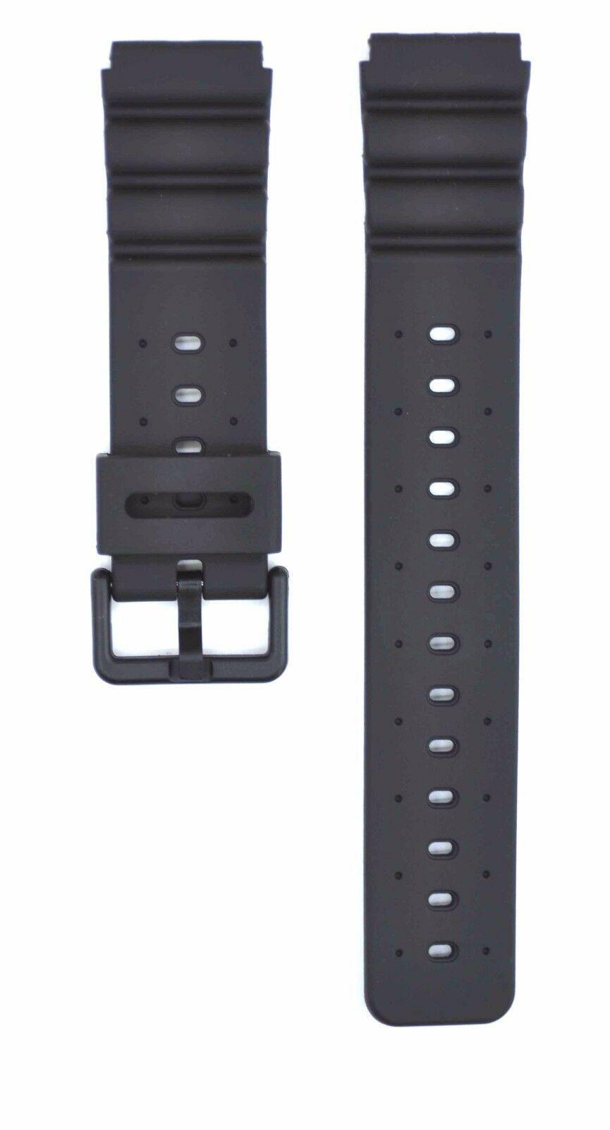 Compatible Casio DW-6400 20mm Black Rubber Watch Strap CAS137
