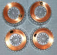 "Arcoroc CopperCraft Guild- Diamant Salad /dessert Bowls- 5"" Copper Bases-NWT image 4"