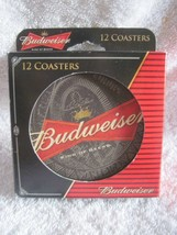 12 Budweiser 4 Inch Round Drink Coasters Official Product Boelter Pulp Board Bar - $8.00