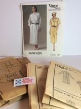Vogue Sewing Pattern 1531 Vtg Anne Klein 14 Dress Loose Fit Label Americ... - $25.12