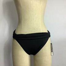 Jantzen Solid Black Slimming Foldover Bikini Bottom  Swimsuit Swimwear S... - $20.57