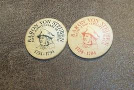 1960-1970 BATH NY COIN CLUB LOT 2 WOODEN NICKEL BARON VON STEUBEN COUNTY - $6.92