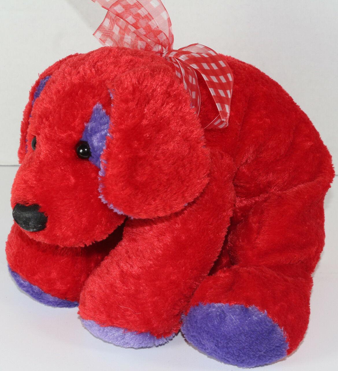 Mary Meyer FLIP FLOPS RED AND PURPLE Floppy DOG STUFFED PLUSH Animal SOFT TOY