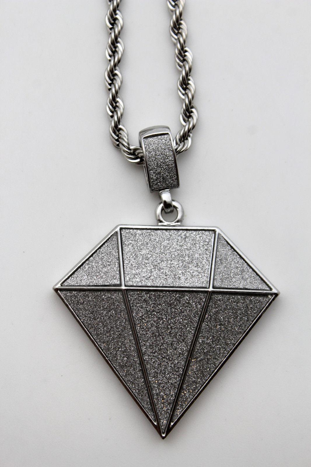 men fashion jewelry long necklace silver chain hip hop big