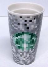 STARBUCKS COFFEE CO. RODARTE Pixel Double Wall Ceramic Travel Tumbler 12... - $66.80