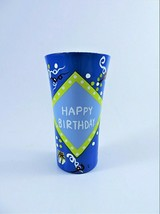Lolita Happy Birthday Guy Shot Glass Shooter Hand Painted Recipe Party Theme  - $13.86