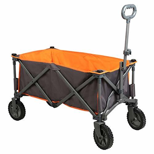 PORTAL Collapsible Folding Utility Wagon Quad Compact Outdoor Garden Camping Car