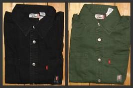 Levi's Men's L/S Classic Denim Work Shirt NWT Green Black S M L XL XXL - $32.68