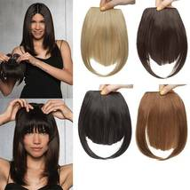 100% Natural Thin Bangs Fringe Clip in Hair Extensions Front Bangs image 8