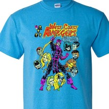 WEST COAST AVENGERS t shirt Marvel Hawkeye Wonderman Mockingbird graphic tee image 2