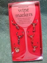 BOSTON WAREHOUSE 6 Holiday Wine Glass Charms-Dr... - $9.89