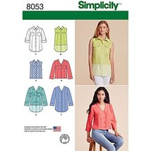 Simplicity Patterns Misses' Button Front Shirt in Various Styles Size: R... - $13.48