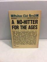 Topps 1991 Stadium Club Charter Member Nolan Ryan A No Hitter Baseball Card image 3