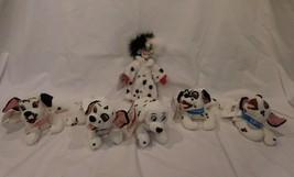 Disney Beans Plush lot of 5 101 Dalmatians Cruella Jewel Lucky rare tags - $31.70