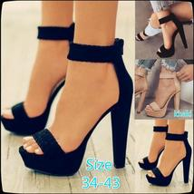 Sexy Retro Heeled Shoes Women Fashion High Heels Pumps High Thick Heels Shoes Au