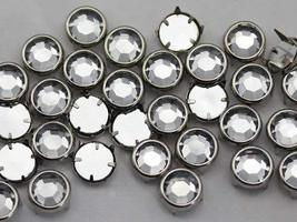 11mm Crystal CH38 Preset Rhinestones - 50 Pieces - $5.45