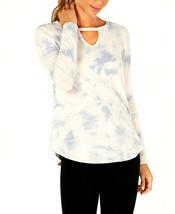 Calvin Klein Performance Women's Blue Comat Tie Dyed Keyhole Top Size XS $49 - $21.77