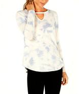 Calvin Klein Performance Women's Blue Comat Tie Dyed Keyhole Top Size XS... - $21.77