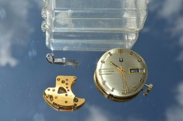 Vtg BULOVA Accutron 2182 watch movement Coils untested WATCHMAKERS ESTAT... - $37.36