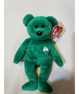 1997 Retired Erin The Bear Original TY Beanie Baby Irish Green - $7.92