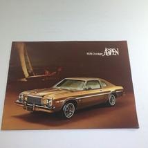 1978 Dodge Aspen Special Edition Paint Dealership Car Auto Brochure Catalog - $7.09