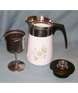 Vintage Corning FLORAL BOUQUET Stove Top 6 Cup Coffee Pot /Percolator -P... - $42.95