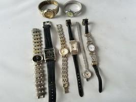 Donna Vintage Alla Moda Orologi Not Funzionanti Lot Of 8 per Parti o Rip... - $72.37