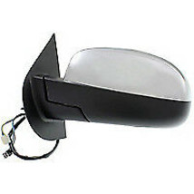 Factory 2007 Chevy Tahoe Sierra Left Driver Side View Mirror Chrome 5 Pin - $48.00