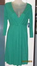OLD NAVY WOMENS X SMALL GREEN COTTON TEE SHIRT MATERIAL DRESS NWT LOW CU... - $11.65
